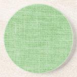 Textura de la arpillera del Grunge del trullo Posavasos Diseño