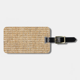Textura de la arpillera etiquetas para equipaje