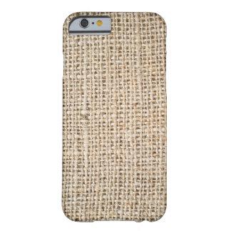 Textura de la arpillera funda para iPhone 6 barely there