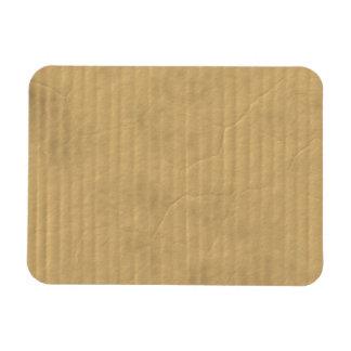 Textura de la cartulina acanalada imán foto rectangular