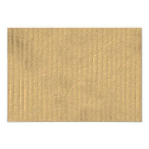"""Textura de la cartulina acanalada invitación 3.5"""" x 5"""""""