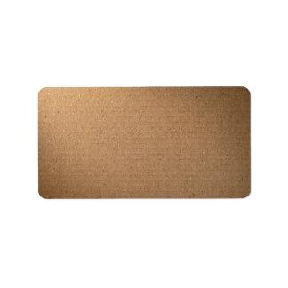 Textura de la cartulina de Brown para el fondo Etiquetas De Dirección