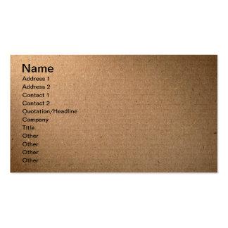 Textura de la cartulina de Brown para el fondo Tarjeta De Visita