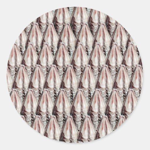 Textura de la cebada pegatina redonda