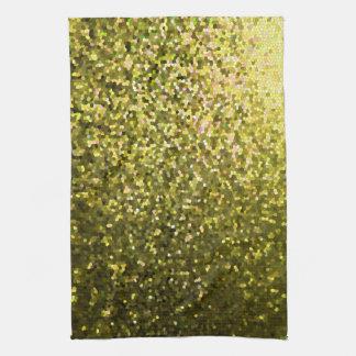 Textura de la chispa del mosaico del oro de la toallas de mano