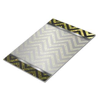 Textura de la chispa del zigzag de la libreta blocs