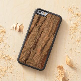 Textura de la corteza de árbol de cedro funda de iPhone 6 bumper cerezo