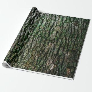 Textura de la corteza de árbol papel de regalo