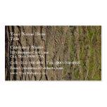 Textura de la corteza de árbol plantilla de tarjeta de visita