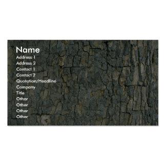 Textura de la corteza de árbol tarjeta de visita