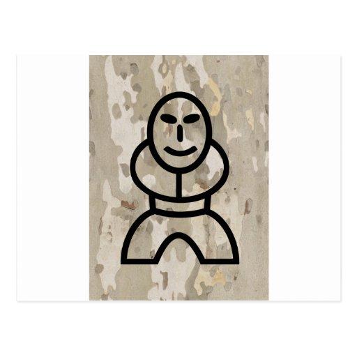 Textura de la corteza de Platan con el hombre del  Tarjetas Postales