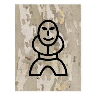 Textura de la corteza de Platan con el hombre del Postal