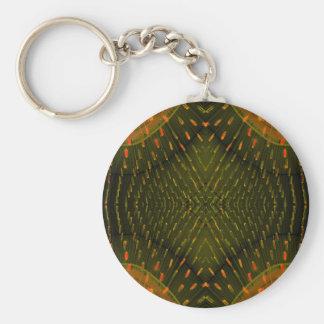 Textura de la cosa anaranjada clara de la luz verd llavero personalizado