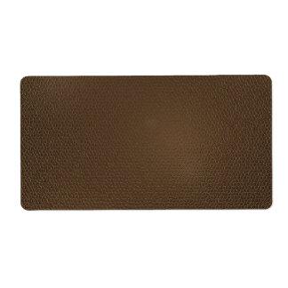 textura de la Cuero-mirada Etiquetas De Envío
