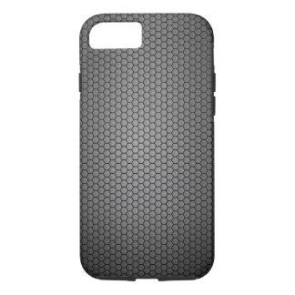 Textura de la fibra de carbono del panal funda iPhone 7
