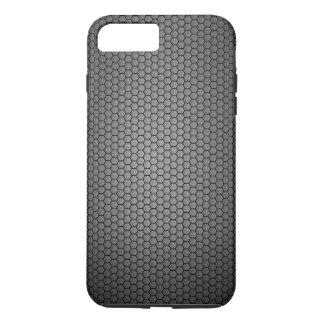 Textura de la fibra de carbono del panal funda iPhone 7 plus
