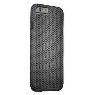 Textura de la fibra de carbono del panal funda resistente iPhone 6