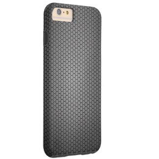 Textura de la fibra de carbono del panal funda resistente iPhone 6 plus