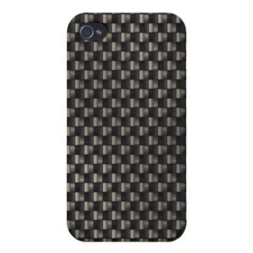 Textura de la fibra de carbono iPhone 4 cobertura