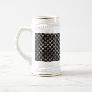 Textura de la fibra de carbono jarra de cerveza