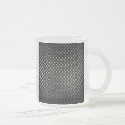 Textura de la fibra de carbono taza de cristal