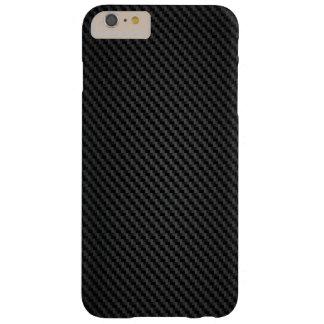Textura de la fibra sintética de Kevlar Funda De iPhone 6 Plus Barely There