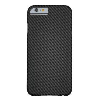 Textura de la fibra sintética de Kevlar Funda De iPhone 6 Barely There