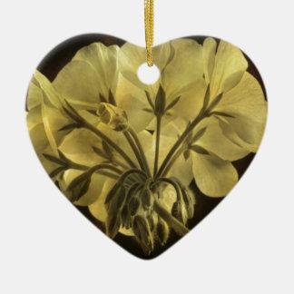 Textura de la flor del geranio adornos de navidad