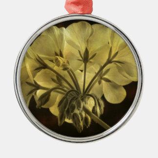 Textura de la flor del geranio ornamento para arbol de navidad