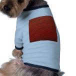Textura de la fresa camiseta de perro