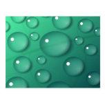 Textura de la gota de agua del trullo tarjetas postales