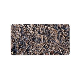 Textura de la granja del heno de la paja etiquetas de dirección