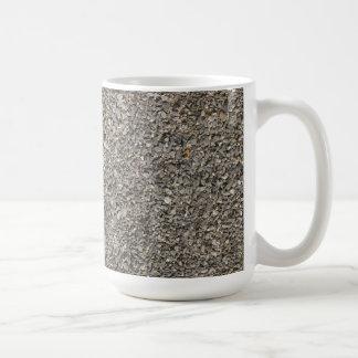 Textura de la grava tazas de café