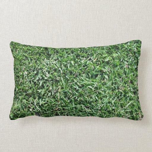 Textura de la hierba de búfalo almohada