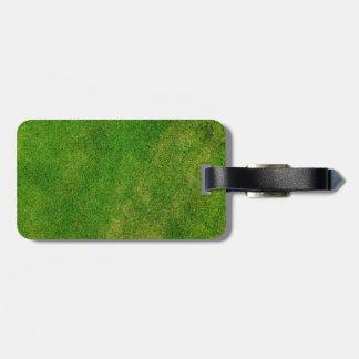 Textura de la hierba verde etiquetas para maletas