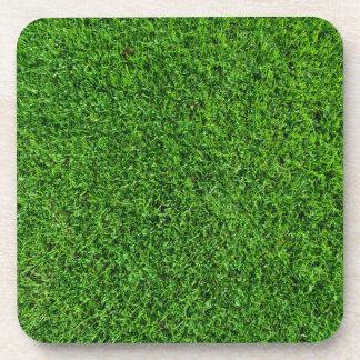 Textura de la hierba verde posavasos de bebida