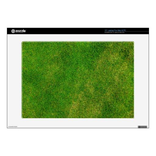 Textura de la hierba verde calcomanías para 38,1cm portátiles