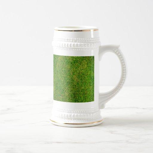 Textura de la hierba verde tazas