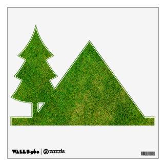 Textura de la hierba verde vinilo