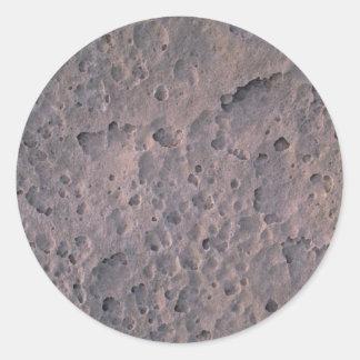 Textura de la luna pegatinas redondas