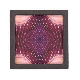 Textura de la luz 2 - rosa y rojo caja de regalo de calidad