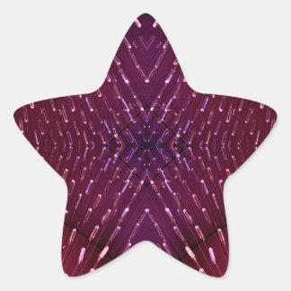 Textura de la luz 2 - rosa y rojo pegatina en forma de estrella