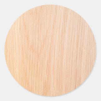 Textura de la madera del roble etiqueta redonda