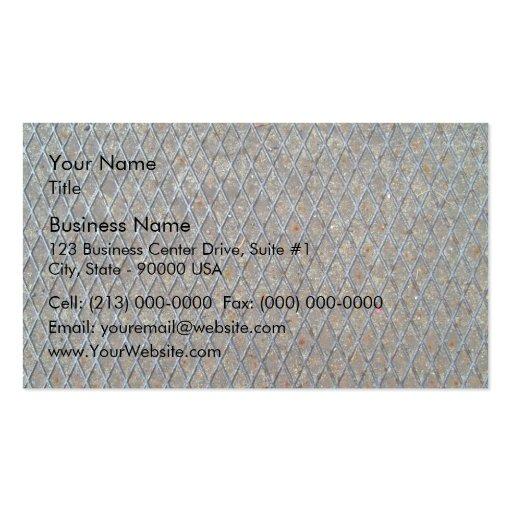 Textura de la malla metálica plantilla de tarjeta personal