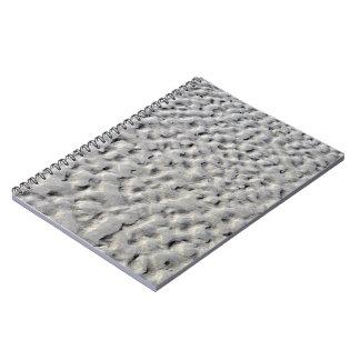 Textura de la naturaleza de la arena gris cuaderno