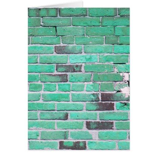 Textura de la pared de ladrillo del vintage de la  tarjeta de felicitación