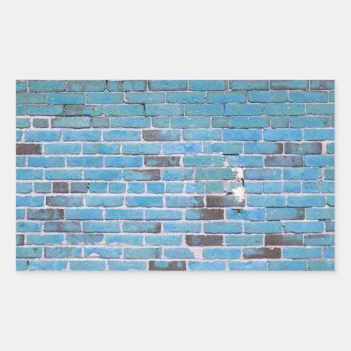 Textura de la pared de ladrillo del vintage del pegatina rectangular