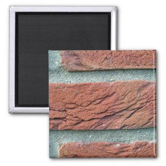 Textura de la pared de ladrillo imán para frigorífico