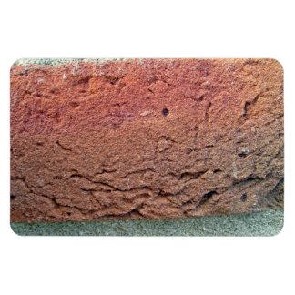Textura de la pared de ladrillo imanes rectangulares