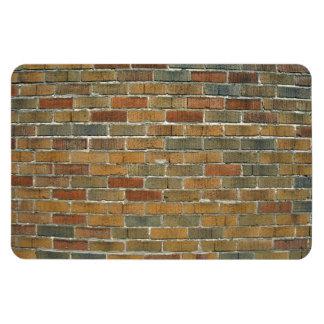 Textura de la pared de ladrillo mezclada del color imán de vinilo